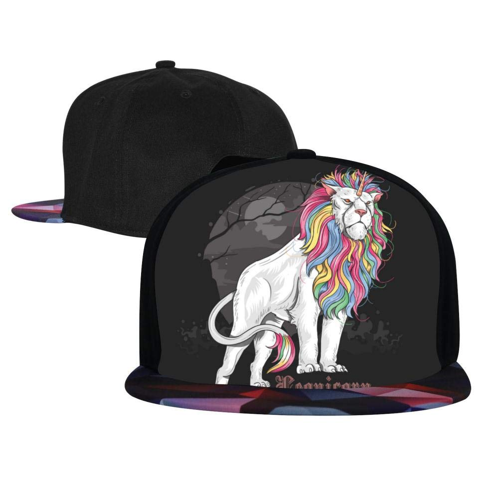 The Lion Unicorn is Majestic in Full Color Mens and Womens Trucker Hats Adjustable Hip Hop Flat-Mouthed Baseball Caps