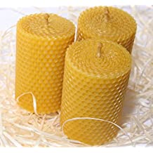 Beeswax Candle Set of 3 Handmade Candles Best for Gift and Home Decor 100% Pure Quality