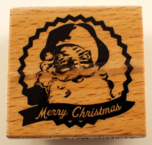 Merry Christmas Santa Claus Hampton Art Studio G Wooden Rubber Stamp