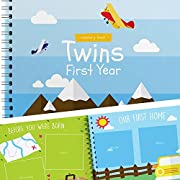 Baby Memory Book For Twins - The Only Baby Keepsake Journal For Documenting Your Twin's First Year! - Airplanes Edition