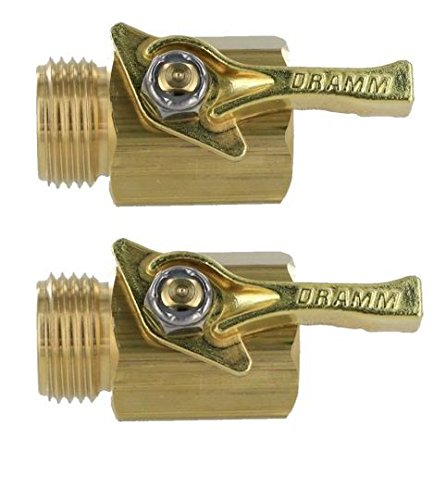 Dramm Heavy-Duty Brass Garden Hose Shutoff Valve (Pack of 2) ()