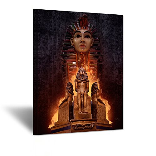 Vintage Egypt Portrait Canvas Wall Art Ancient Egyptian Pharaoh
