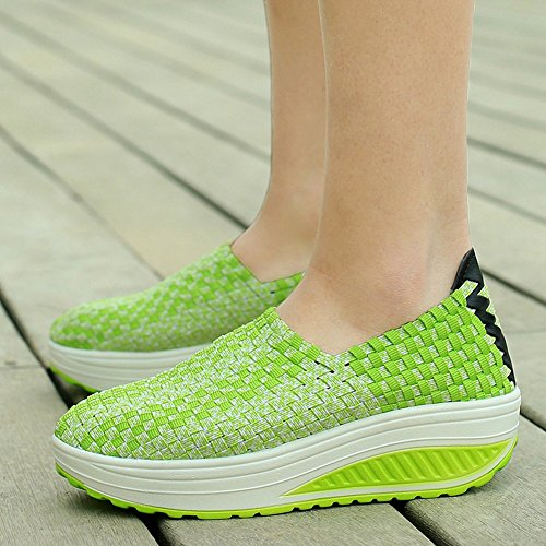 XiaoYouYu Sneaker Shoes Women's Ups Green Fitness Shape Walking Toning r0OrnTBx