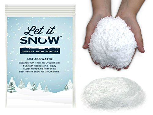 Let it Snow Instant Snow Powder for Slime - Mix Makes 3 Gallons of Fluffy White Fake Snow For Slime - Best Instant Snow for Slime, Cloud Slime and Frozen Birthdays - Looks and Feels Like Real Snow (Powder Winter)