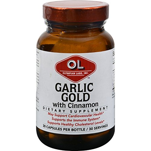 Olympian Labs Garlic Gold with Cinnamon - 30 capsules - Olympian Labs Garlic