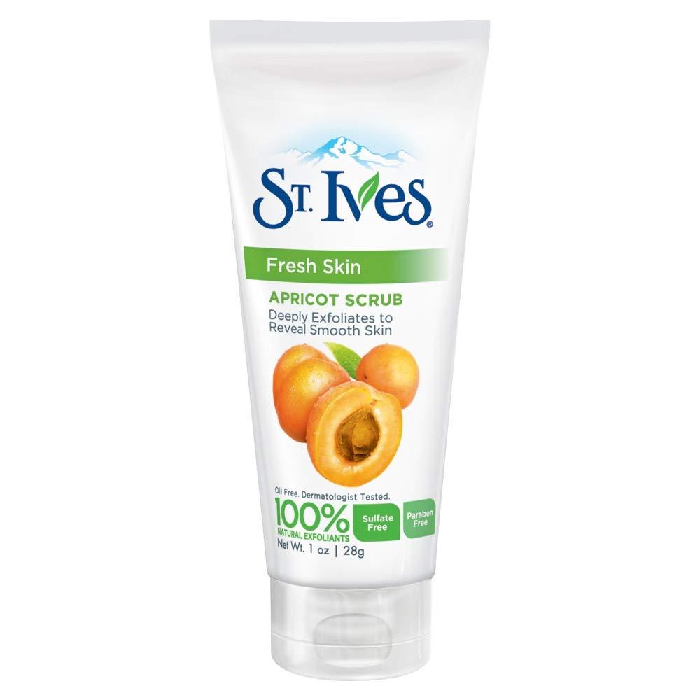 St. Ives Fresh Skin Invigorating Apricot Scrub Unisex 1 oz travel size (Pack of 3