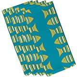 E by design Something's Fishy, Animal Print Napkin, 19 x 19'', Turquoise