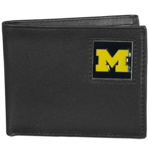 NCAA Michigan Wolverines Leather Bi-fold Wallet