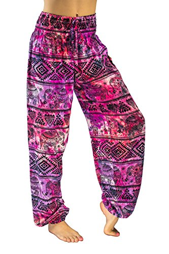 PIYOGA - Women's Boutique Lounge and Bohemian Yoga Pants, Scrunched Bottom