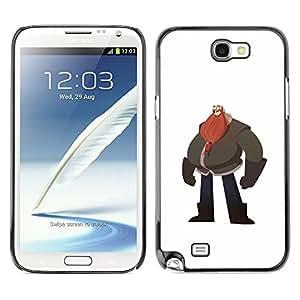 Be Good Phone Accessory // Dura Cáscara cubierta Protectora Caso Carcasa Funda de Protección para Samsung Note 2 N7100 // Big Man Belly Red Beard Drawing Art