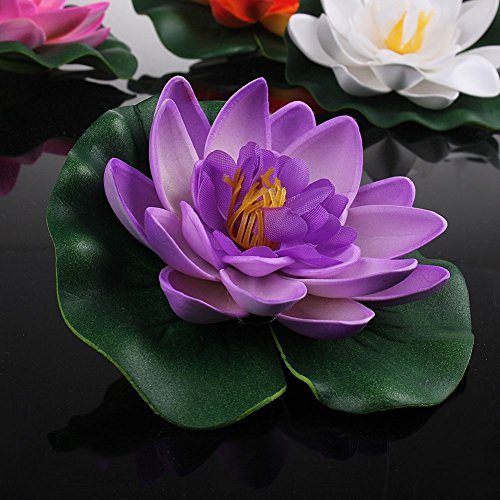 Set-Of-4-Different-Color-Artificial-Floating-Foam-Lotus-Flower-Water-Lily-for-Home-Garden-Pond-DecorSmall