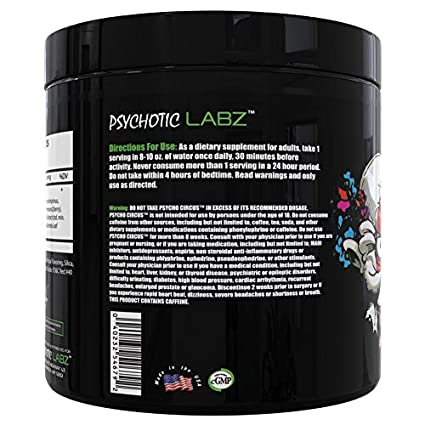 Psychotic Labz Psycho Circus Supplement, Sweet Watermelon, 6 5 Ounce
