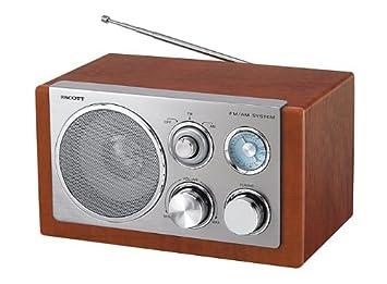 61a83d206a8 Scott RX 18 W Analog Radio (UKW- MW-Tuner) braun  Amazon.de  Audio ...