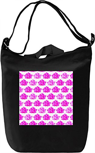 Pink Water Lilies Borsa Giornaliera Canvas Canvas Day Bag| 100% Premium Cotton Canvas| DTG Printing|