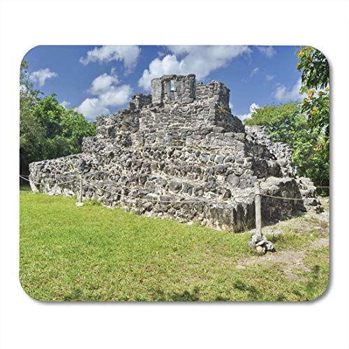 Mouse Pad Green Pyramid in San Gervasio Mayan Ruins Cozumel Mexico Mousepad for Notebooks,Desktop Computers Mouse Mats, Office Supplies