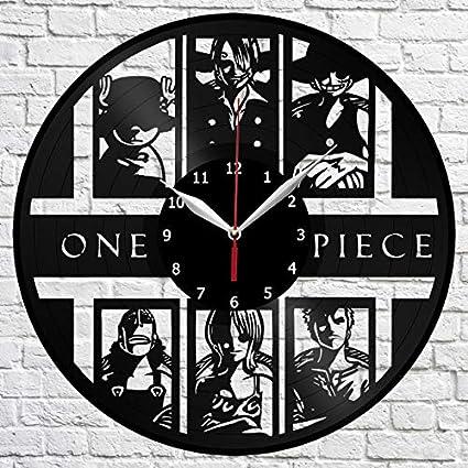 417b81f7048 Amazon.com: One Piece Vinyl Record Wall Clock Handmade Original Gift ...
