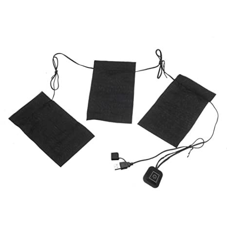 Chaleco Térmico USB Almohadilla Térmica Ajustable Tercer Engranaje Interruptor de Control de Temperatura Lavado Almohadilla Térmica Flexible ...