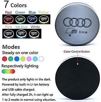KINBEAR Porte-gobelet LED Voiture Coaster 7 Couleurs Porte-gobelet de Chargement USB Porte-Boisson Luminescence LED int/érieure Voiture D/écoration Lumi/ère Choisissez Votre Voiture