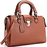 Dasein Women's Designer Pebbled Top Handle Satchel Handbag Shoulder Bag Work Bag Purse With Strap