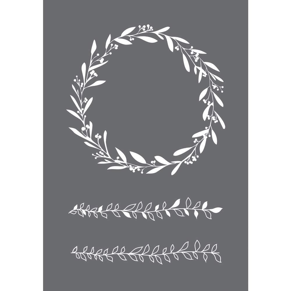 Spatula Rayher Stencil Flower Wreath A5