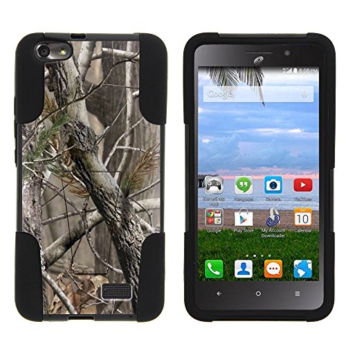 Huawei Raven Case, Full Body Fusion Strike Impact Kickstand Case with Exclusive Illustrations for Huawei Raven LTE H892L (Straight Talk) by MINITURTLE - Nature's Camouflage