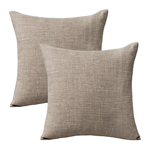 Euro Set Chair - Jeanerlor Lined Linen Solid Decorative Pillow Cover/Euro Sham/Cushion Sham Prime, Durable Pillow Cases for Chair - 26