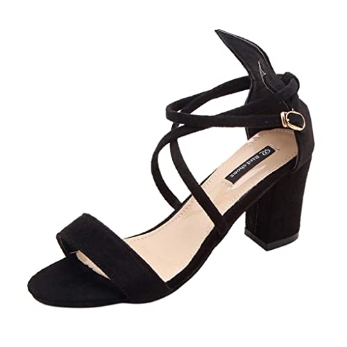 Details about Women Flat Sandals High Heels Fish Mouth Buckle Strap Open Toe Sandals DIY