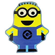OFFICIAL LICENSED DESPICABLE ME MINION SHAPED YELLOW BLUE NON-SLIP RUG 80X100CM