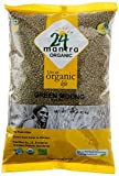 Organic Moong Beans Green Whole - Organic Moong Whole Chhilka - Organic Whole Green Gram (Green Moong Dal) - USDA Certified Organic - European Union Certified Organic - Pesticides Free - Adulteration Free - Sodium Free - 4 Pounds - 24 Mantra Organic