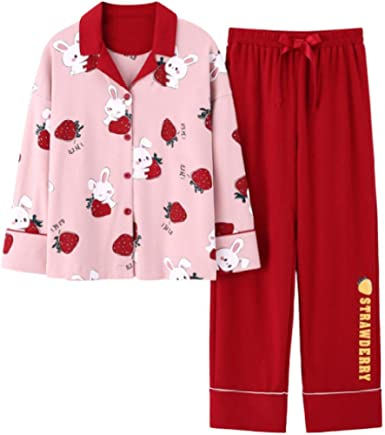 Pijamas para Mujer, Conjunto De Pijama para Mujer Algodón Conejo ...