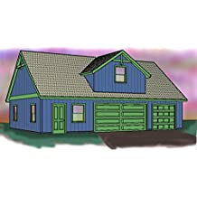 Three car garage plan - Single story with loft - 42' x 28' - Extra space for storage, office or shop