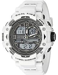 Armitron Sport Mens 20/5062WHT Analog-Digital Chronograph White Resin Strap Watch