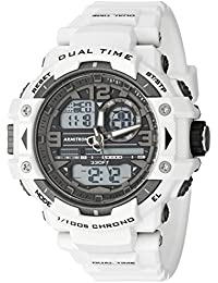 Mens 20/5062WHT Analog-Digital Chronograph White Resin Strap Watch