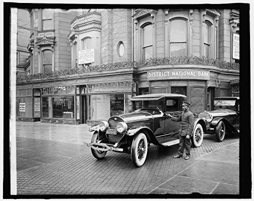 Vintography 16 x 20 Gallery Wrapped Frame Art Canvas Print Dist. Nat. Bank, Dupont Branch, Washington, D.C. 1910 National Photo Co 71a