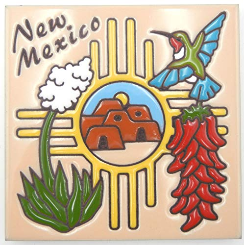 (Hand-n-Hand Designs Talavera Clay Tile All About New Mexico )