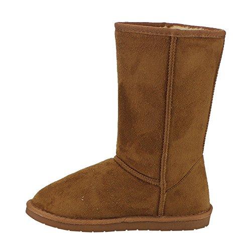 Voor Altijd Ge23 Dames Pull-on Design Onder Kniehoge Winter Snowboots Tan