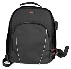 Duragadget Black Projector Backpack With Customisable Interior Raincover Compatible With The Cheerlux C6 Projector