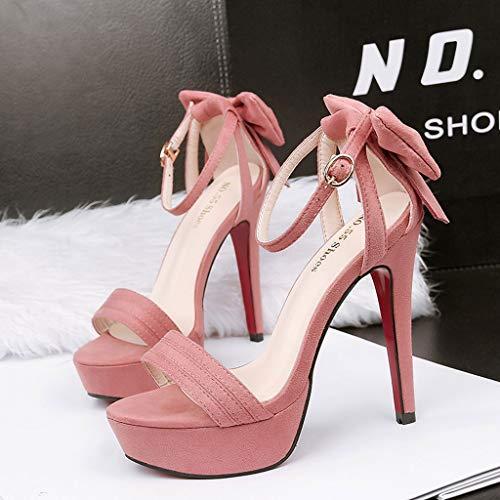 couleur 39 1 C Sandales Fr Pour Mode Plateforme Haut Taille A Talon Dames Dcyu Orteil Ouverte Chaussures De 3 Sexy HZaq7