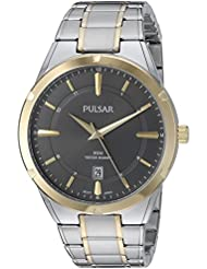 Pulsar Mens Quartz Stainless Steel Casual Watch, Color:Two Tone (Model: PS9522)