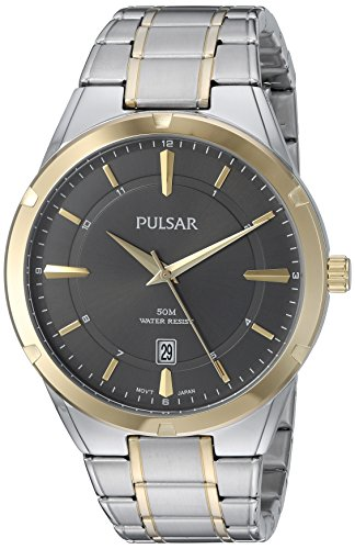 Pulsar Men's Quartz Stainless Steel Casual Watch, Color:Two Tone (Model: PS9522)