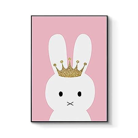 BluelansR Cute Animal Paintings Unicorn Rabbit Butterfly Canvas Wall Art Picture Print Kids Room Modern