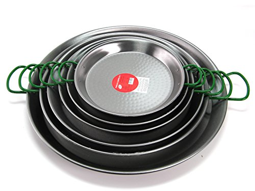 Polished Steel Valencian paella pan 20Inch / 50cm /13 ()