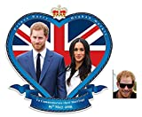 Commemorative Pack - Royal Wedding 2018 Wall Mounted Cardboard Art Cutout Prince Harry & Meghan Markle - Includes 8x10 Star Photo