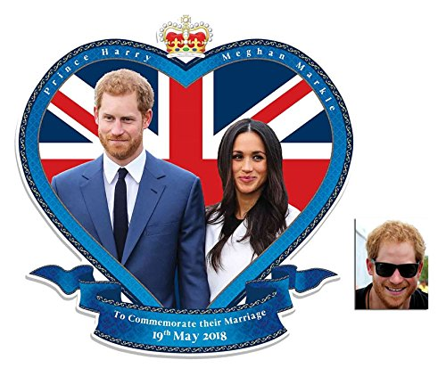 Commemorative Pack - Royal Wedding 2018 Wall Mounted Cardboard Art Cutout Prince Harry & Meghan Markle - Includes 8x10 Star Photo by BundleZ-4-FanZ Fan Packs