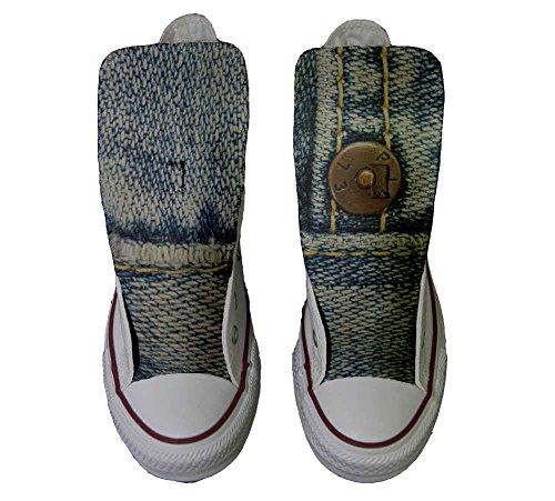 Converse All Star personalisierte Schuhe - HANDMADE SHOES - Jeans