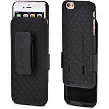 iPhone 6S / 6 Case, Aduro COMBO Shell & Holster Case Super Slim Shell Case w/ Built-In Kickstand + Swivel Belt Clip Holster for Apple iPhone 6S / 6