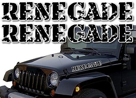 "Amazon.com: 2 Jeep Renegade Rugged 22"" Hood calcomanías ..."