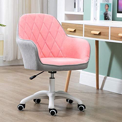 SSNG Ergonomisk skrivbordsstol, bekväm duk datorstol, bomull och linne tyg hem kontor svängbar stol, mode sömnad färg mitt bak soffa uppgift stolar