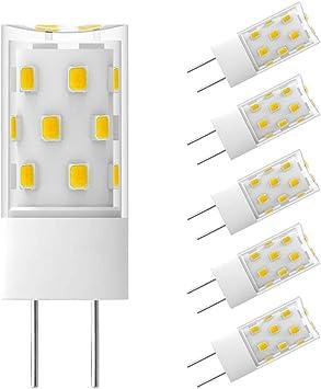 5x G4 LED Bulb halogen lamp Cool white 4W DC12V SMD Capsule light