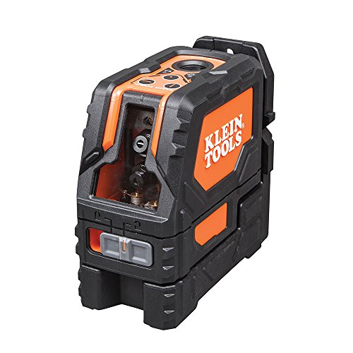 Cross Line Laser Level with Plumb Spot, Self-Leveling, Includes Magnetic Mounting Clamp Klein Tools 93LCLS